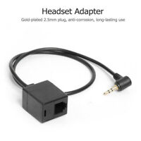 Headset Adapter 2.5mm TRS Stereo Plug Male To RJ9 6P4C Socket Female CablY miWH
