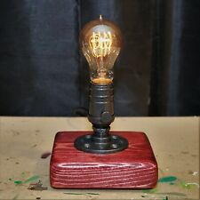 Steampunk Inspired Edison Lamp. Victorian Desktop Lamp. Industrial Desktop Lamp