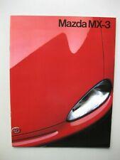 Mazda MX3 prestige brochure Prospekt text Dutch 20 pages 1991