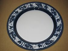 "DANSK CEYLON Royal Blue 13"" Round Serving PLATTER  MINT"