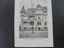 1903 Baugewerkszeitung 34  / Berlin Groß Lichterfeld Haus Aßmann Ulmenstraße