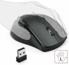 Wireless Ergonomic USB Mouse – Gaming Mouse - Left Handed Mice - Office Mouse