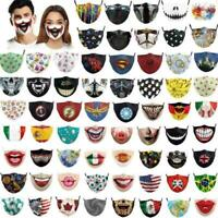 New Face Mask Washable Reusable Scary Horror Mask , Goth Scary Teeth