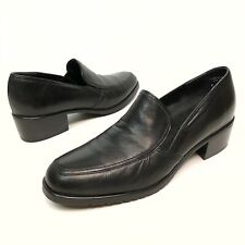 Munro American Shoes Women's Pumps Loafers Black Leather Sz 9N Stretch Comfort