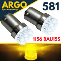 581 Amber Indicator Bau15s Led Bulbs Py21w Yellow Signal 1156 Car Bayonet Bulb