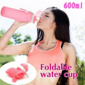 Silicone Water Bottle Portable Folding Leakproof Sport Outdoor Travel P6 CY