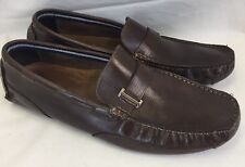 Clarks England Circuit Alonso Brown Slip-On Driving Shoes 63381 Men's Sz 13 M