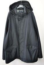 GANT Manhattan Double Jacket Men's 2XL Cotton Nylon Hooded Zip Up Snap Coat Vtg