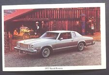 1977 BUICK RIVIERA promotional postcard (for dealers use).......ever owned one??