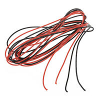 Hot Sale!2x 3M 18 Gauge AWG Silicone Rubber Wire Cable Red Black Flexible TS