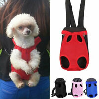 Pet Nylon Mesh Puppy Dog Cat Backpack Front Net Bag Tote Sling Carrier Bag S-XL
