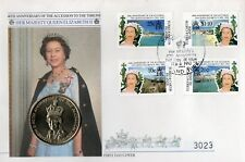 Turks & Caicos 1992 Queen's 40th Anniversary FDC with pictorial FDI cancellation