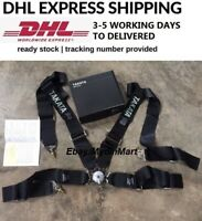 """Seat Belt Harness TAKATA BLACK 4 Point Snap-On 3"""" With Camlock Racing DHL EXPRES"""