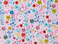 CALICO QUILTING FABRIC FLOWER SEWING  EXCLUSIVELY QUILTERS 100% COTTON  YARDAGE