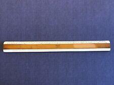 Vintage Bruning 72-168 Asa Style H Drafting Ruler Full & Half Sized Scale German