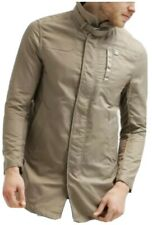G-Star Garber Gunner Trench Coat Mens Large Jacket Imported Tan Army Collar