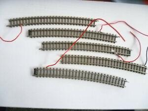 218) 6 Stück 8591 Gegenbogen zur Weiche mit angelötetem Kabel
