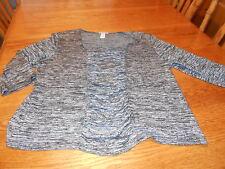 Womens Plus 2X Bleeker & McDougal Black and Gray Varigated Tunic Blouse
