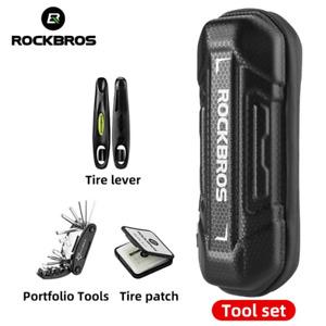 ROCKBROS Bike Tool Kits Multifuctional Tools Set Tire Repair Kits Storage Bag