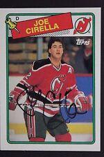 JOE CIRELLA New Jersey Devils Autograph 1988 Topps #188 Signed Card JSA 16H