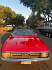 1971 Ford Mustang deluxe 1971 Ford Mustang Convertible Red RWD Automatic deluxe