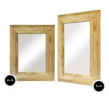 Espejo de Pared Marco Madera Vestido Exterior Baño Macizo