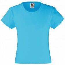 Fruit of the Loom 100% Baumwolle Mädchen-Tops,-T-Shirts & -Blusen mit Rundhals