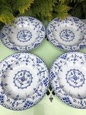 Saxon Blue Onion Soup Bowls  X4
