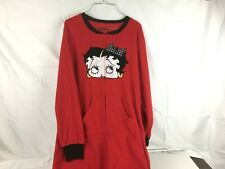 Betty Boop Red Women's Large (12-14) Footie Footed Pajamas