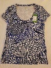 NWT LILLY PULITZER Indigo Home Slice Cotton DORI Tee - XS - Retail $48