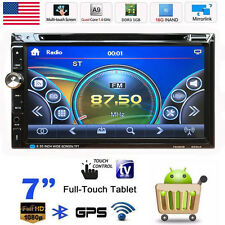 "7"" HD Touchscreen 2 DIN Car Stereo CD DVD Player FM Radio Bluetooth USB/SD/TV AP"