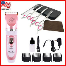 Professional Pet Grooming Kit Cordless Dog Cat Trimmer Clippers Hair Combs Set