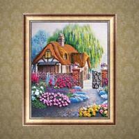 5D Diamond Painting Voll Diamant Kreuzstich Stickerei Malerei Bild Haus 30*36cm