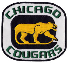 "1972-75 CHICAGO COUGARS WHA HOCKEY MINORS 5.75"" TEAM PATCH"