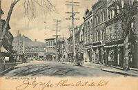 RAHWAY NEW JERSEY-MAIN STREET & KIRSTEINS DRUG & STOREFRONTS~1906 PHOTO POSTCARD