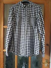 Ladies TU Black Gingham and Check Shirt UK size 12