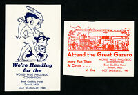 US Lot of 2 NH 1940 Philatelic Convention Stamp Labels