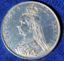 MONNAIE ANCIENNE DOUBLE FLORIN JUBILEE VICTORIA  1887  EN ARGENT GRANDE BRETAGNE