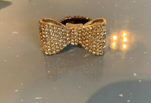 diamante adjustable bow ring