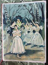OPERA GISELE BRAYER  LITHO PROGRAMME  VERSAILLES THEATRE 1965 DE GAULLE DANEMARK