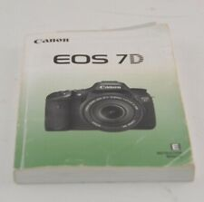 New ListingCanon Genuine Eos 7D Camera Instruction Book / Manual / User Guide