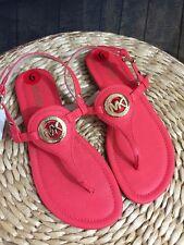 New MICHAEL Michael Kors Women's Orange Thong PVC Sandal Size 6