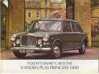 Vanden Plas Princess 1300 1968-1970 Original UK Sales Brochure Pub. 2441