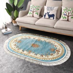 Tassel Carpets Bedroom Floor Mat Floor Oval Rugs European Vintage Carpet and Rug