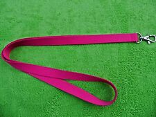 5 x PINK LANYARD NECK STRAP WITH STRONG METAL TRIGGER CLIP FOR ID CARD HOLDER