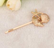 Pinza de pelo en forma de estrella de peces Mar Accesorios de joyería de diseño de oro Boho deslizante con solapa