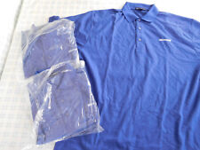 Lot of 3 Microsoft Polo Golf Shirt Blue XL New
