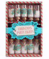 set of 10 vintage retro style fairy xmas christmas glass jar tree lights