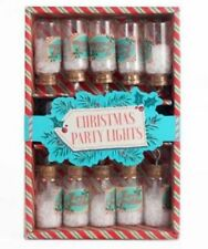 set of 10 vintage retro style fairy xmas christmas glass jar tree lights