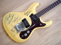 1965 Mosrite Ventures Model Vintage Guitar White, Ventures Signed w/ohc